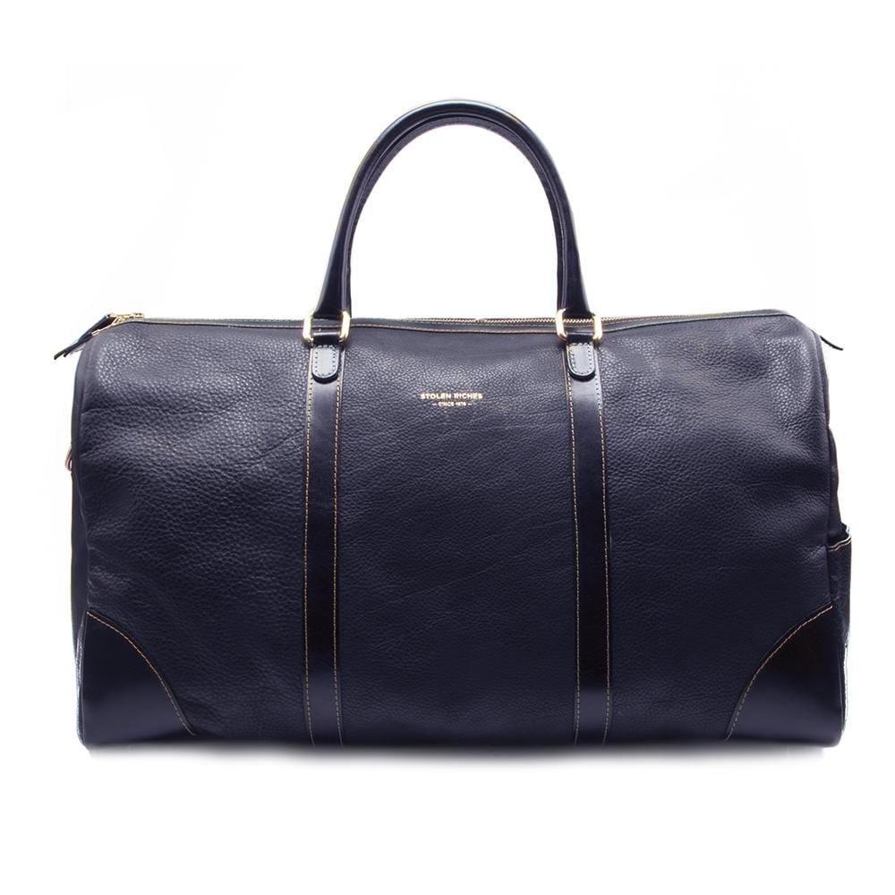 Weekend bag, blue leather