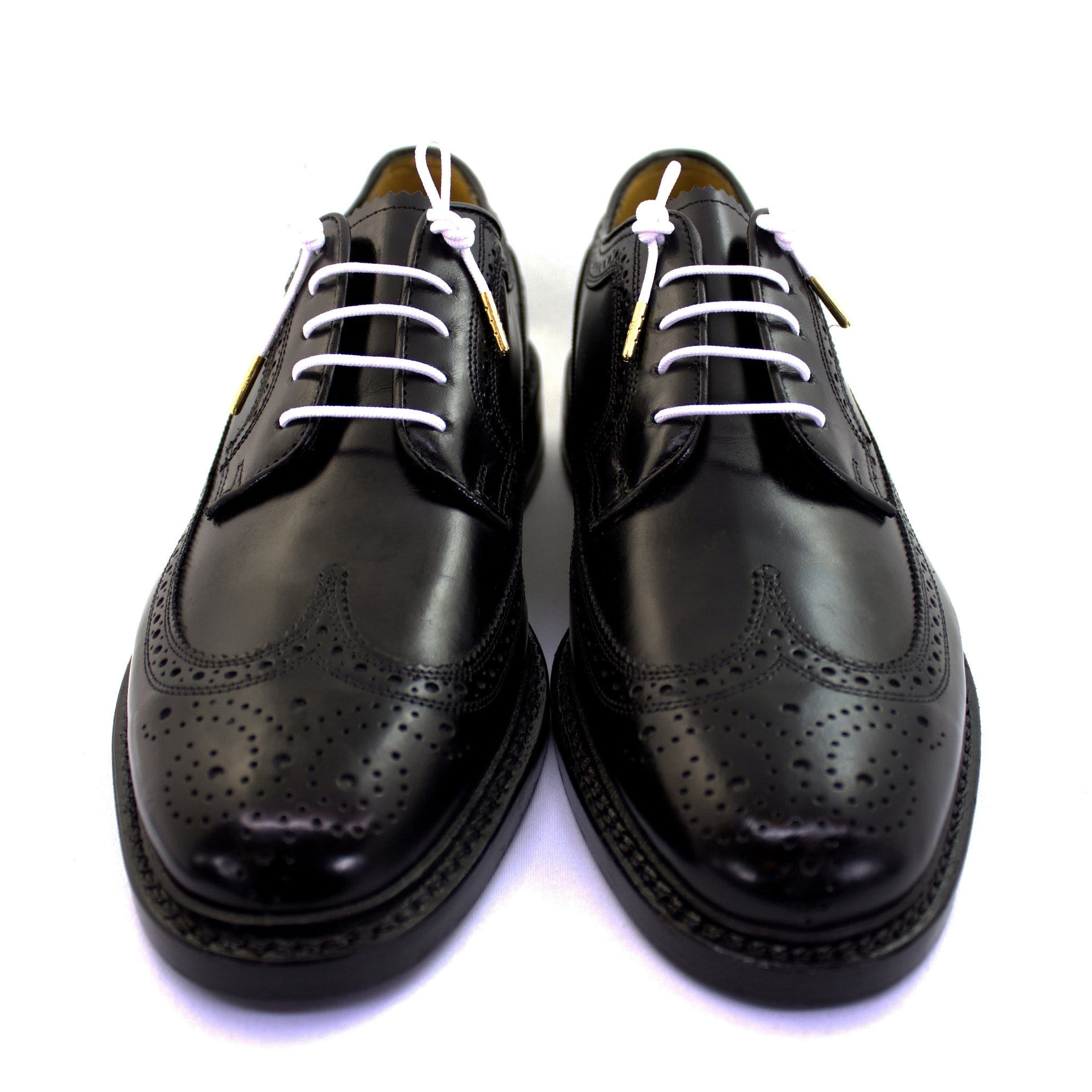"Bright white laces for dress shoes, Length: 32""/81cm-Stolen Riches"