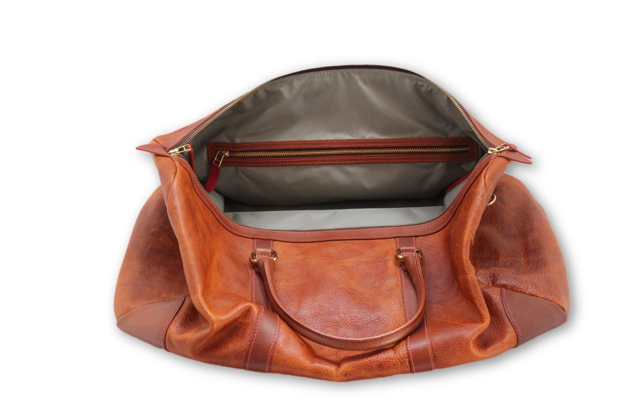 Weekend bag, brown leather