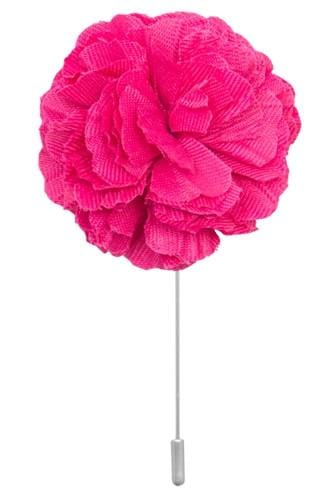 Cotton Lapel Pin - Poona Pink - Stolen Riches