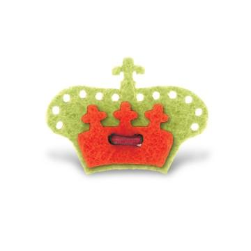 Crown Lapel Pin - Avalon Green with Portsalon Red - Stolen Riches