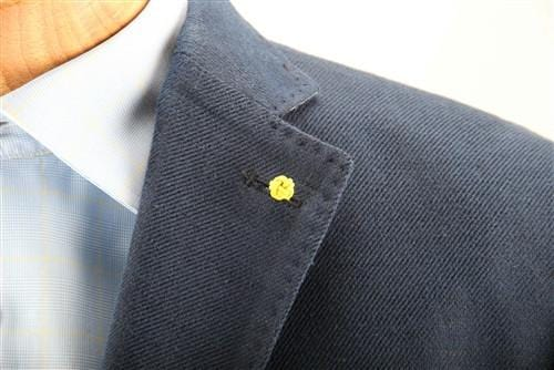 Crown Lapel Pin - Bishop Blue with Huckleberry Yellow - Stolen Riches