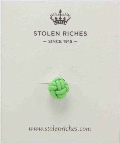 Crown Lapel Pin - Nicklaus Green with Huckleberry Yellow - Stolen Riches