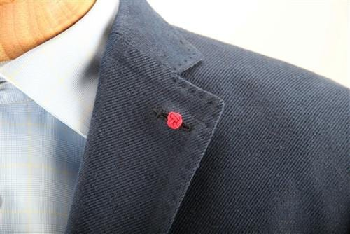 Crown Lapel Pin - Portsalon Red with Mission Blue - Stolen Riches