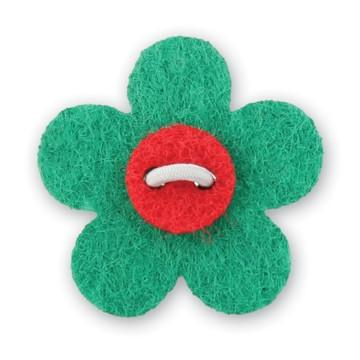 Flower Lapel Pin - Nicklaus Green with Portsalon Red - Stolen Riches