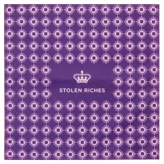 "Buster Purple - Crown Pattern Pocket Square (13""x13"") - Stolen Riches"