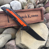 "Hoback Limited Edition Psalm 51-100 Carbon Fiber Kwaiback Folder, Titanium/Carbon Fiber w/ DLC Black Finish, 3.75"" Blade in CPM-Cru-Wear Steel w/ DLC Black Finish Hunter Orange Inlay"