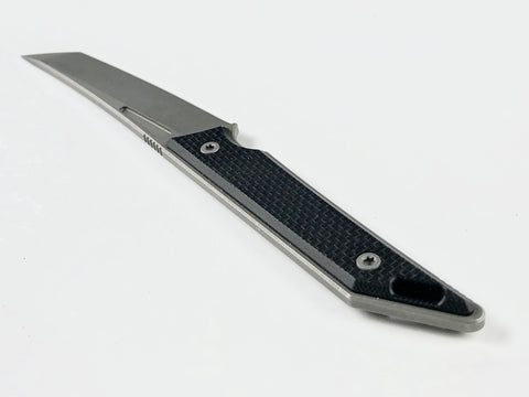 Goliath Pocket Fixed Blade, CPM-20CV, Black G10 Handle w/ DLC Black Stonewashed Finish, Right Pocket Carry