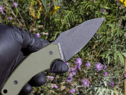Shepherd Fixed Blade, OD Green G10 Handle, CPM-20CV Blade Steel, DLC Black Stonewash Finish