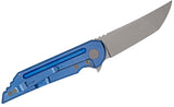 Kwaiback Ti Blue Ano, CTS-XHP Stonewash, Knifecenter Exclusive Bedform Finish