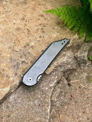 Kwaiback MK5.1 Folder, Titanium with Smooth Sides, CPM-20CV Blade Steel, Stonewash Finish