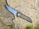 Kwaiback MK5 Folder, Titanium with Smooth Sides, Nitro-V Blade Steel, Bronze Anodized/Stonewash Finish