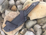 "Special Edition Kwaiback Fixed Blade CF M390 Black Fallout ""Eagle Wings"""