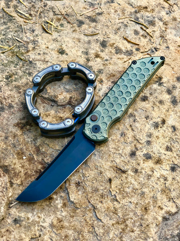 Custom Ultralight Tradecraft Automatic, Machined Outside, Black Blade