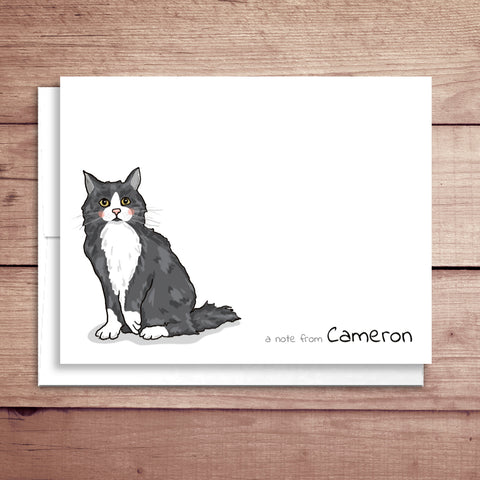 Cat Folded Note Card