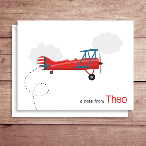 Plane Folded Note Card