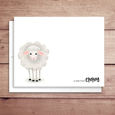 Sheep Folded Note Card