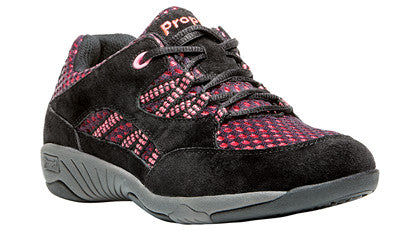 Black/Hot Pink Propet W0613 Leila Women's Shoe -Diabetic Shoes