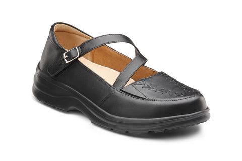 Dr. Comfort Black Betsy Women's Dress Shoe | Diabetic Shoes | Orthopedic Shoe