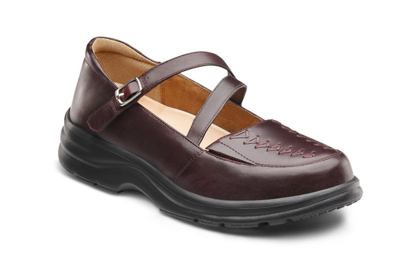 Dr. Comfort Burgundy Betsy Women's Dress Shoe | Diabetic Shoes | Orthopedic Shoe