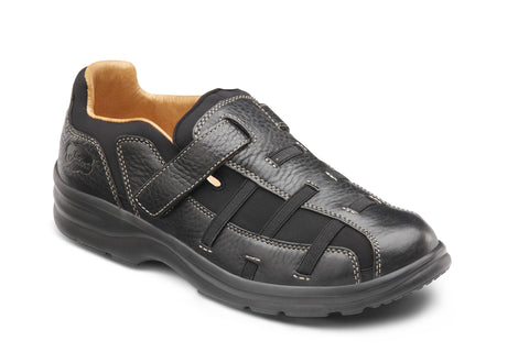 Dr. Comfort Black Betty Women's Fisherman Sandal | Diabetic Shoes | Orthopedic Shoe