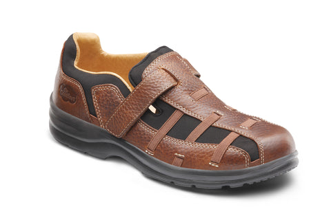 Dr. Comfort Chestnut Betty Women's Fisherman Sandal | Diabetic Shoes | Orthopedic Shoe