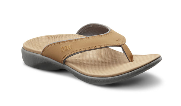 Dr. Comfort Camel Collin Men's Sandal | Orthopedic Shoe