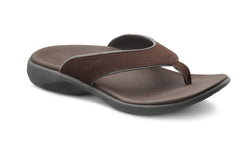 Dr. Comfort Chocolate Collin Men's Sandal | Orthopedic Shoe