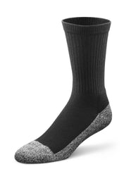 Dr. Comfort Black Extra Roomy Crew Sock | Diabetic Socks | Orthopedic Socks