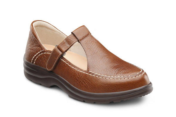 Dr. Comfort Chestnut LuLu Women's Casual Shoe | Diabetic Shoes | Orthopedic Shoe