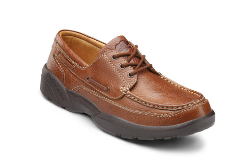 Dr. Comfort Chestnut Patrick Men's Boat Shoe (Lace) | Diabetic Shoes | Orthopedic Shoe
