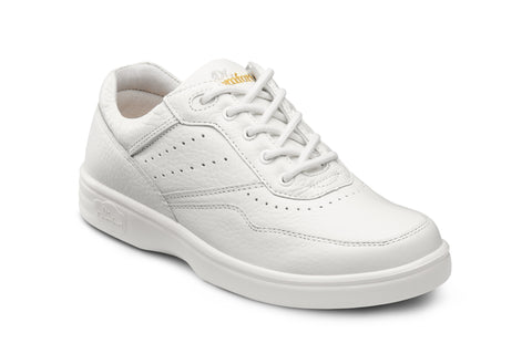 Dr. Comfort White Patty Women's Casual Shoe (Lace) | Diabetic Shoes | Orthopedic Shoe