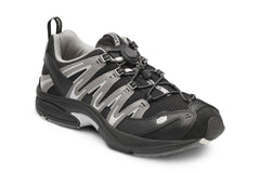 Dr. Comfort Black/Gray Performance Men's Athletic Shoe | Diabetic Shoes | Orthopedic Shoe