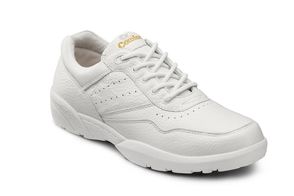 Dr. Comfort White Robert Men's Casual Shoe (Lace) | Diabetic Shoes | Orthopedic Shoe