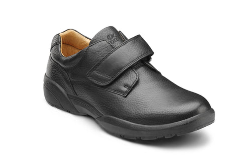Dr. Comfort Black William Men's Dress Shoe | Diabetic Shoes | Orthopedic Shoe
