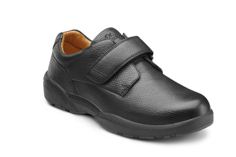 Dr. Comfort Black William-X Men's Dress Shoe | Diabetic Shoes | Orthopedic Shoe