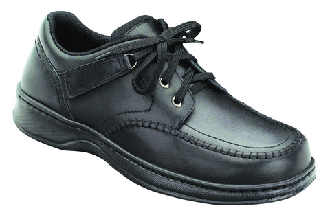 Orthofeet 461 Men's Loafer (Tie-Less Lace) Black | Diabetic Shoes