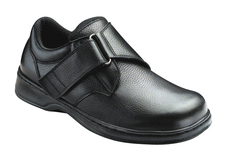 Orthofeet 510 Broadway Mens Comfort Shoe Velcro Black | Diabetic Shoes