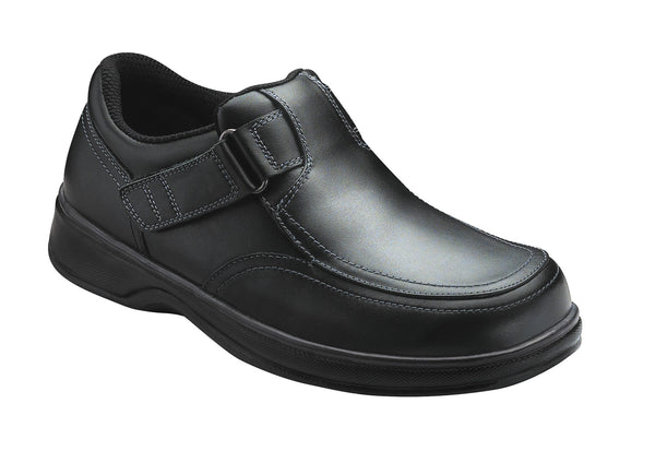 Orthofeet 410 Carnegie Men's Comfort Shoe Black | Diabetic Shoes