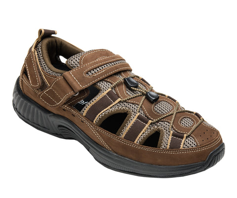 Orthofeet 573 Clearwater Men's Sandal Brown | Diabetic Shoes