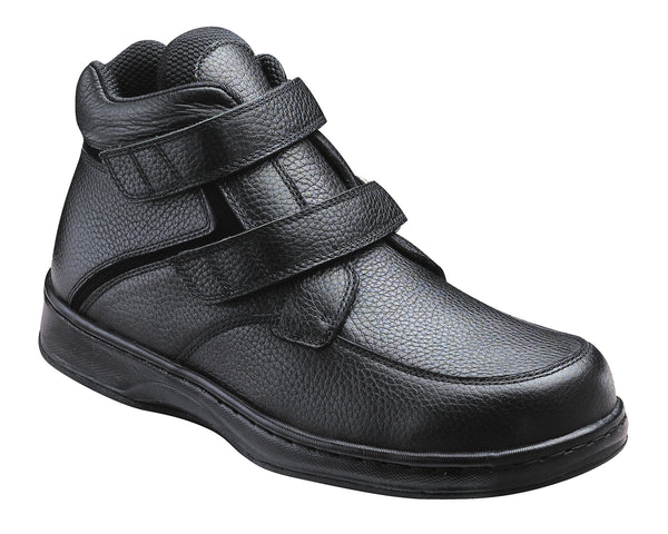 Orthofeet 581 Glacier Gorge Men's Boot Black | Diabetic Shoes