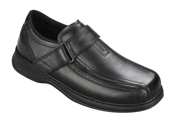 Orthofeet 585 Lincoln Center Men's Black Dress Shoe | Diabetic Shoes