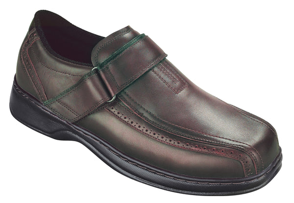 Orthofeet 586 Lincoln Men's Comfort Shoe Cordovan | Diabetic Shoes