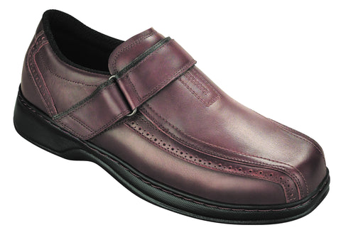 Orthofeet 587 Lincoln Center Men's Dressy Shoe Brown | Diabetic Shoes