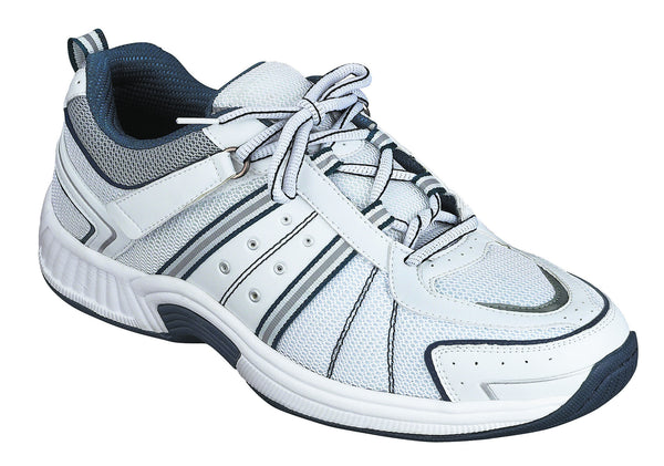 Orthofeet 610 Monterey Bay Men's Athletic Shoe White | Diabetic Shoes