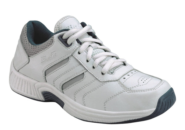 Orthofeet 640 Pacific Palisades Men's White Athletic Shoe | Diabetic Shoes