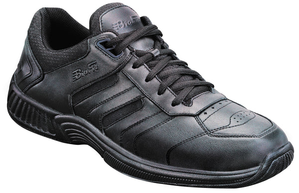 Orthofeet 641 Pacific Palisades Men's Black Athletic Shoe | Diabetic Shoes