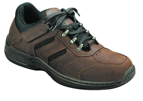 Orthofeet 644 Shreveport Men's Hiking Shoe Brown | Diabetic Shoes