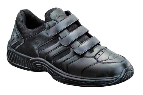 Orthofeet 651 Ventura Men's Athletic Shoe Black | Diabetic Shoes
