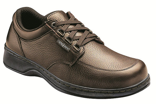 Orthofeet 420 Avery Island Men's Comfort Shoe Brown | Diabetic Shoes